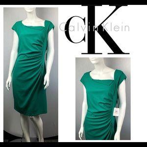 NWT Calvin Klein Stylish Kelly Career Work Dress